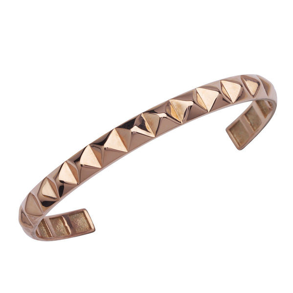 FANCY PYRAMID CUFF BANGLE