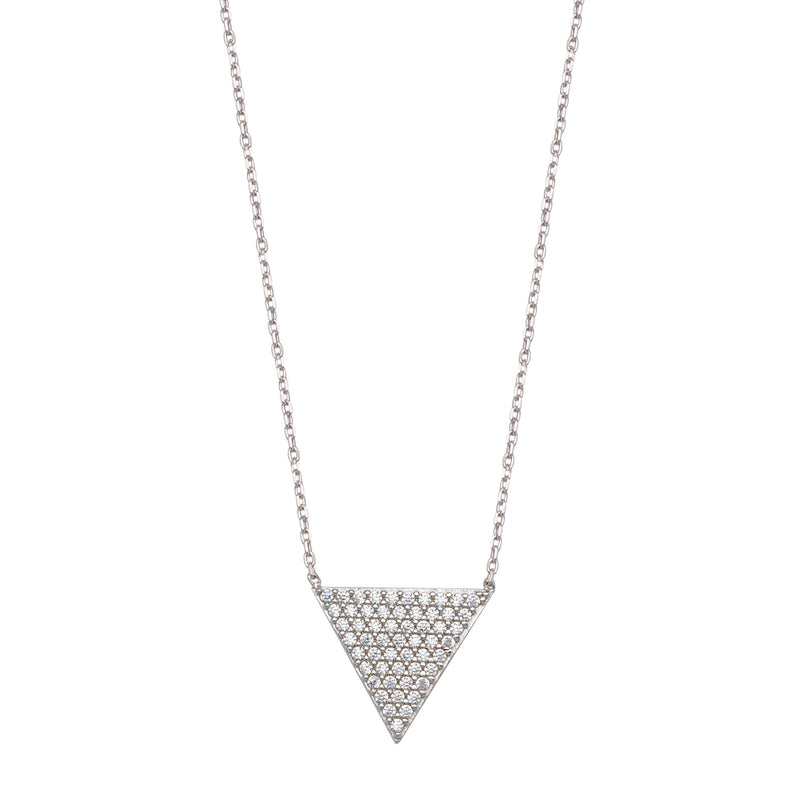 CZ TRIANGLE SHAPED NECKLACE