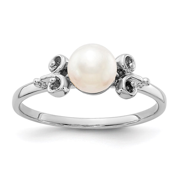 10ky 5.5mm FW Cultured Pearl ring