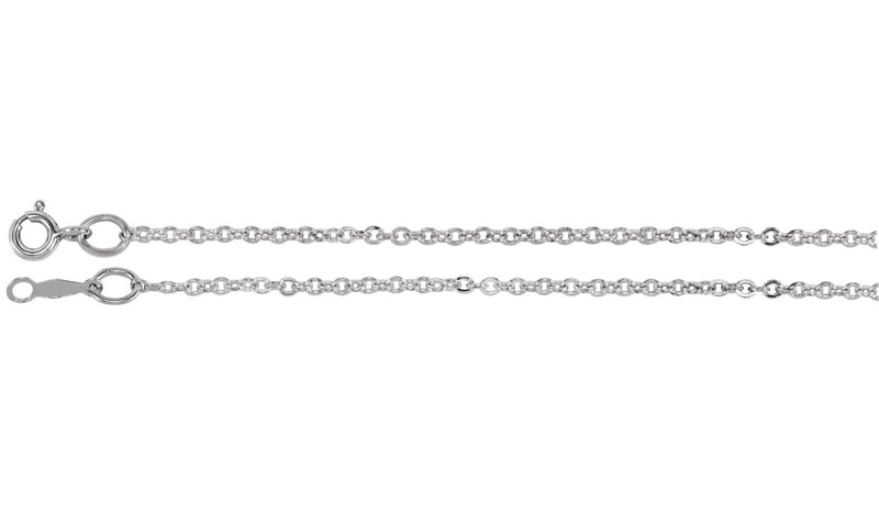 "Sterling Silver 1.75 mm Cable 20"" Chain"