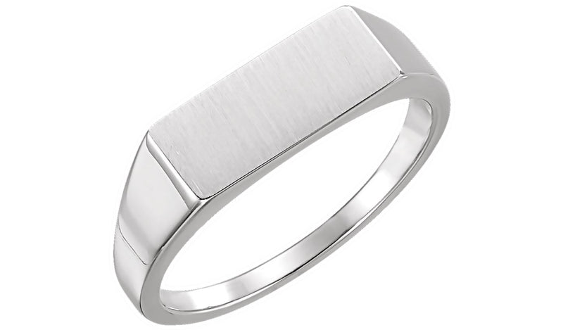 Sterling Silver Men's Rectangle Signet Ring