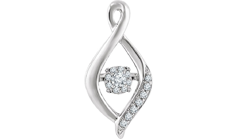 14K White 1/6 CTW Mystara Diamonds® Infinity-Inspired Pendant