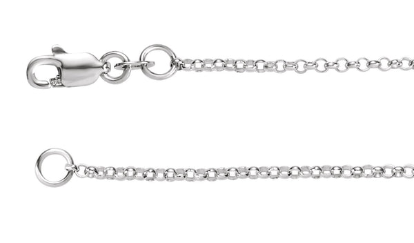 1.5 mm Sterling Silver Rolo Chain