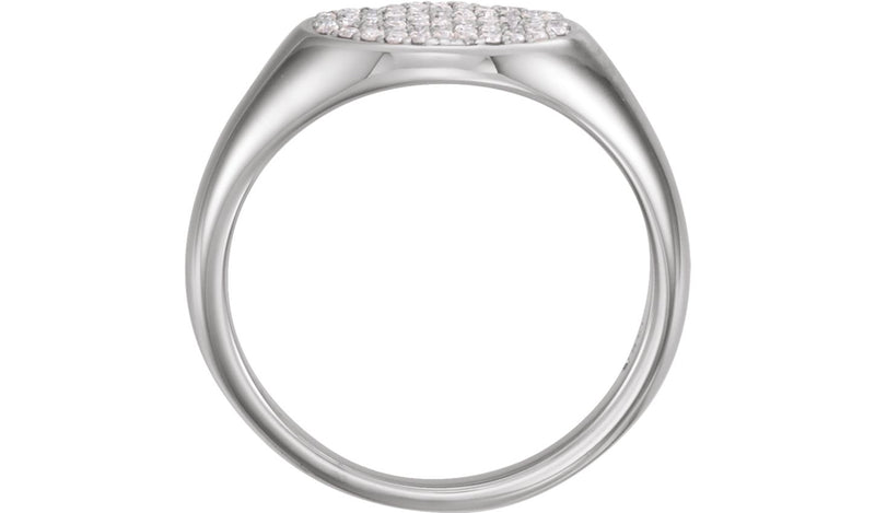 14K White 1/3 CTW Diamond Pavé Ring