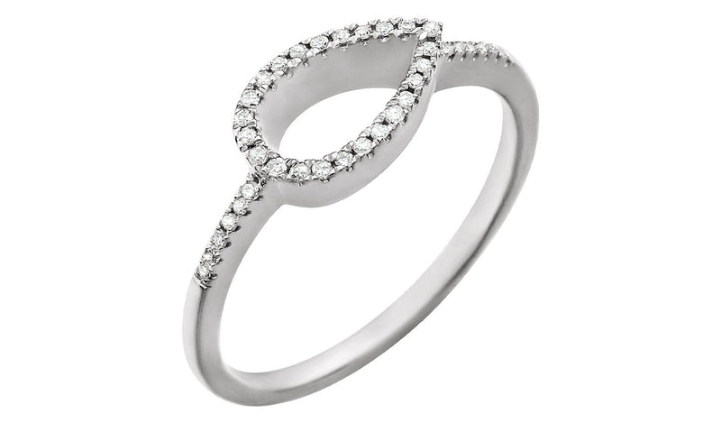 14K White 1/10 CTW Diamond Geometric Ring - THE LUSTRO HUT