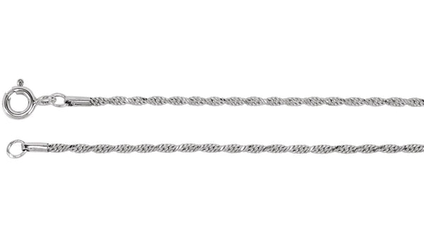 1.5 mm Diamond Cut Rope Chain