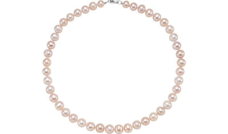"Sterling Silver Freshwater Cultured Pearl 18"" Necklace"