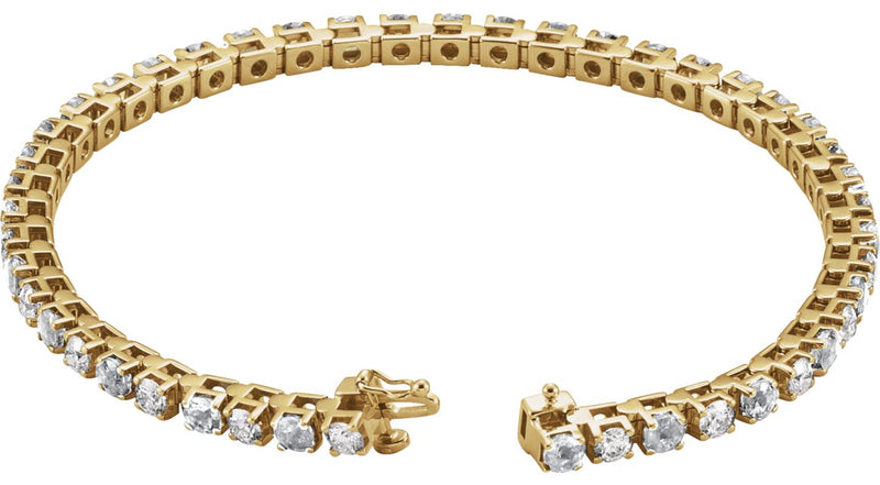 14K Yellow Gold Emerald & 2 1/3 CTW Diamond Bracelet