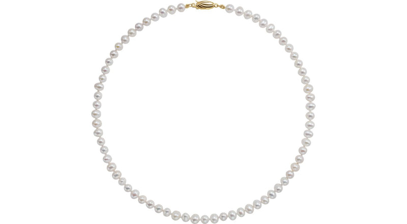 "14K Yellow Gold Freshwater Cultured Pearl 16"" Necklace"