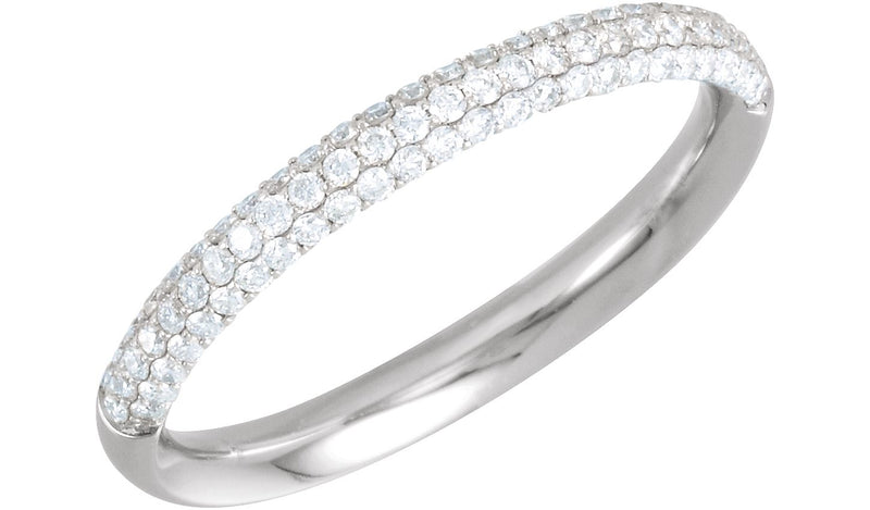 Platinum 3/8 CTW Diamond Pavé Anniversary Band - THE LUSTRO HUT