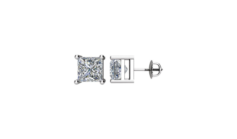 14K White 2 CTW Diamond Threaded Post Stud Earrings