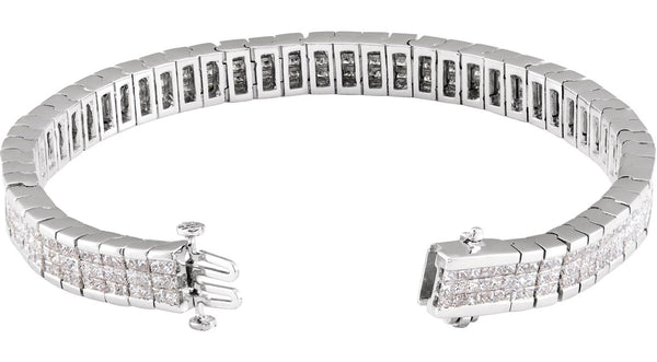 Diamond Line Bracelet - THE LUSTRO HUT