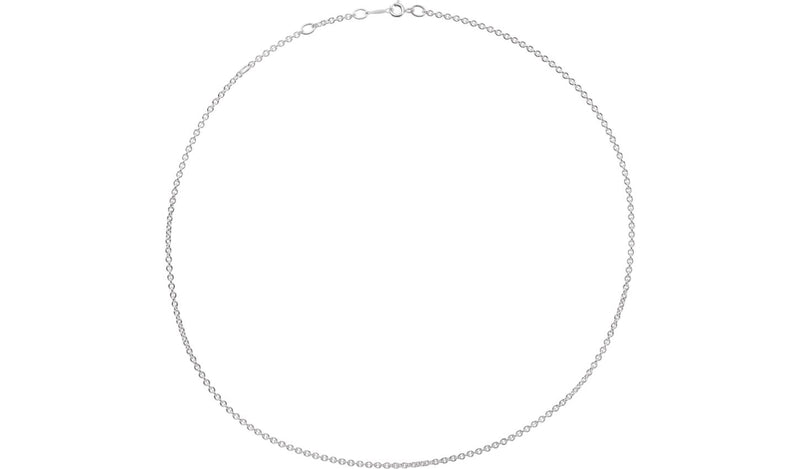 "Sterling Silver 2.1 mm Adjustable Cable 16-18"" Chain"