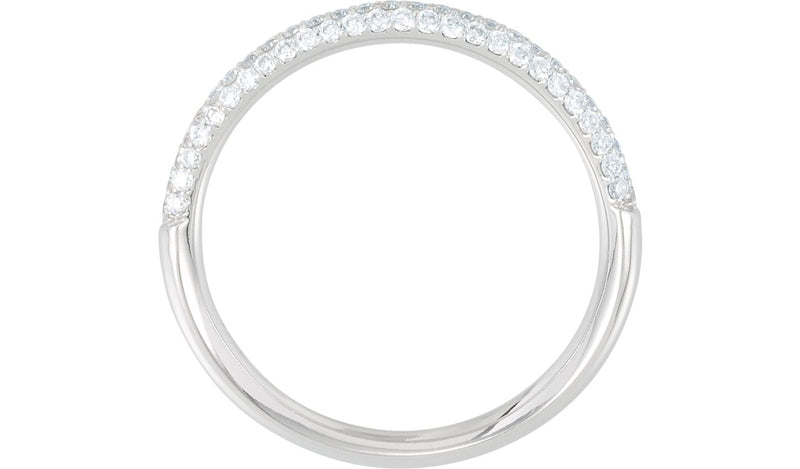 Platinum 3/8 CTW Diamond Pavé Anniversary Band