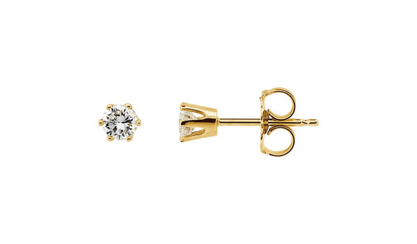 1/4 CTW Diamond Friction Post Stud Earrings - THE LUSTRO HUT