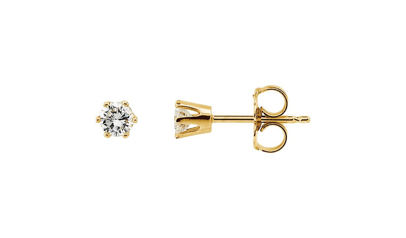 1/4 CTW Diamond Friction Post Stud Earrings