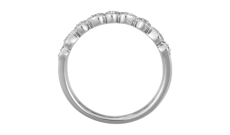 Platinum .04 CTW Diamond Ring Size 7