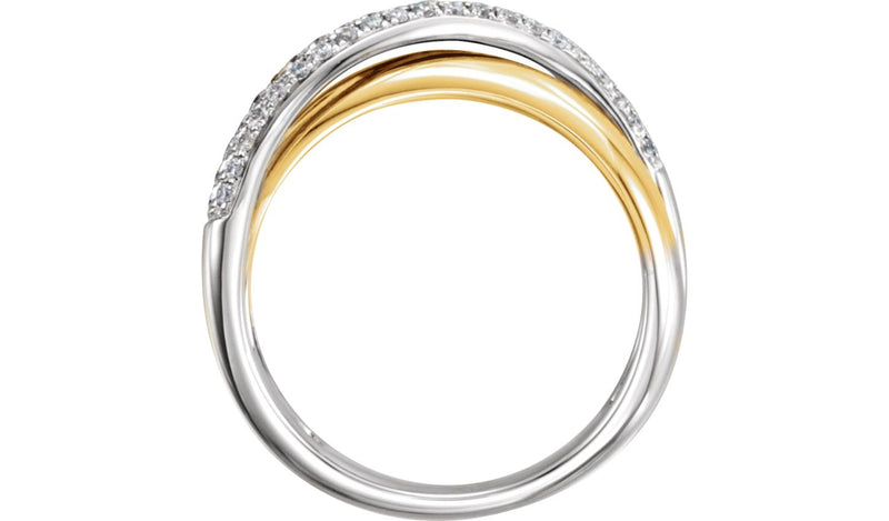 14K Yellow & White  1/5 CTW Diamond Ring