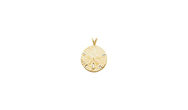 14K Yellow Sand Dollar Pendant