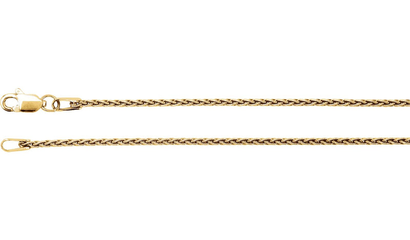 "14K Yellow 1.25 mm Wheat 16"" Chain"
