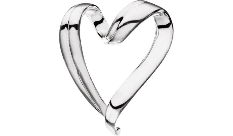 Sterling Silver Heart Chain Slide