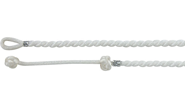 White 3 mm Satin Twist Necklace