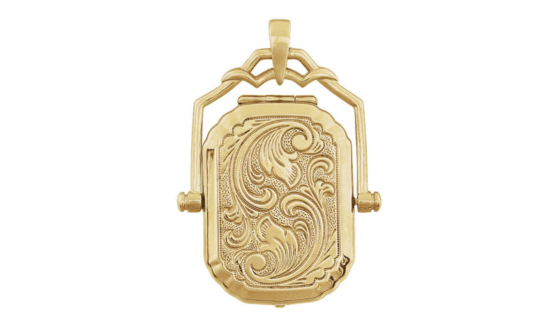 14K Yellow Swivel Locket