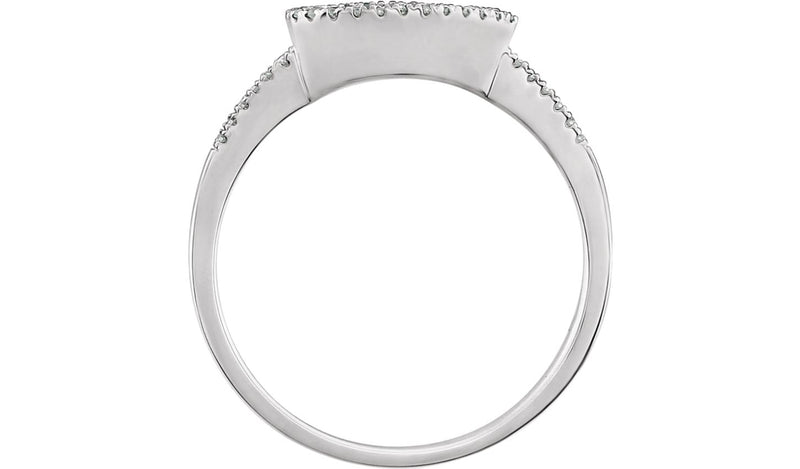 14K White 1/10 CTW Diamond Geometric Ring