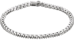 "14K White Gold 2 1/8 CTW Diamond 7"" Line Bracelet"