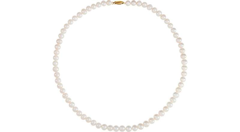 "14K Yellow Gold Freshwater Cultured Potato Pearl 18"" Necklace"