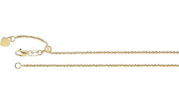 1.4 mm Adjustable Fashion Chain - THE LUSTRO HUT