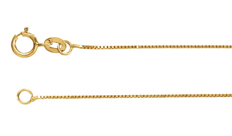 "14K Yellow .55 mm Solid Box 24"" Chain"