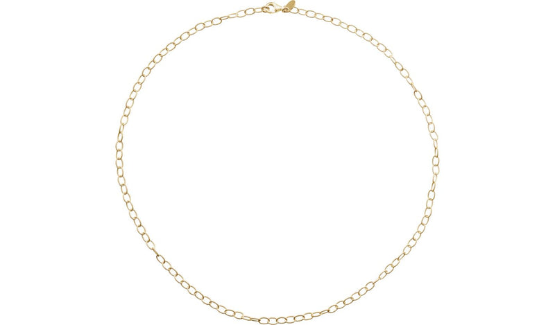 "24K Yellow Vermeil 3.5 mm Knurled Cable 16"" Chain"