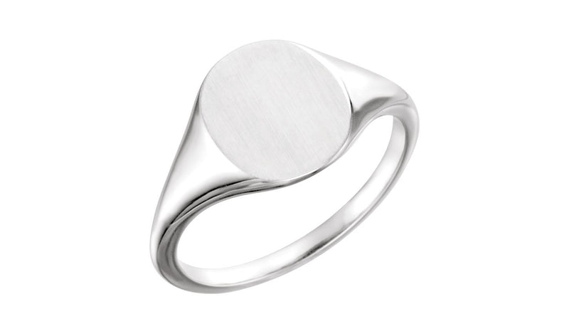 Continuum Sterling Silver 11x9 mm Signet Ring