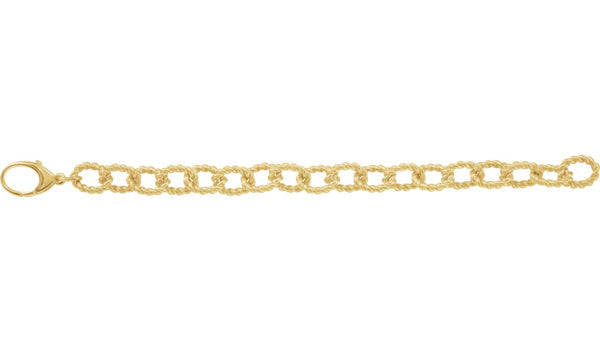 10.75 mm Sterling Silver Gold Plated Link Bracelet - THE LUSTRO HUT