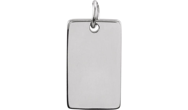 Sterling Silver 13x8 mm Be Posh® Rectangle Pendant