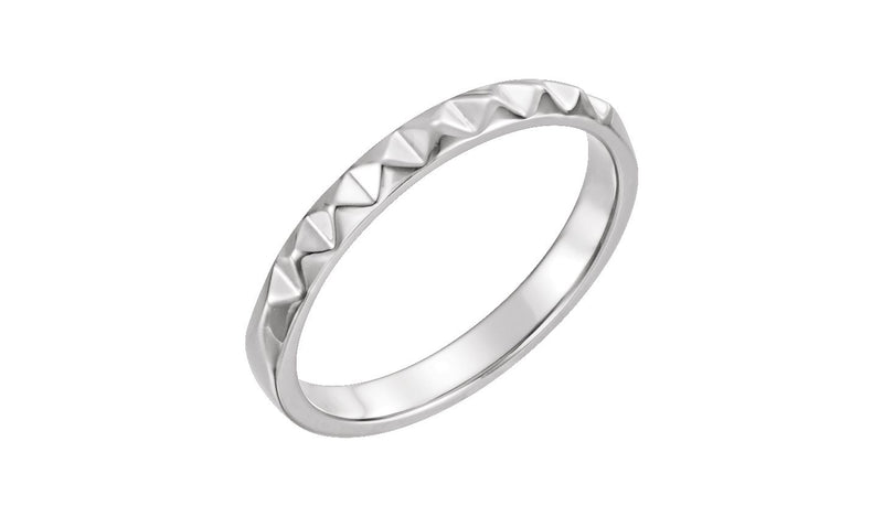 Sterling Silver Stackable Pyramid Ring