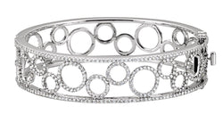 14K White Gold 6 7/8 CTW Diamond Bangle Bracelet