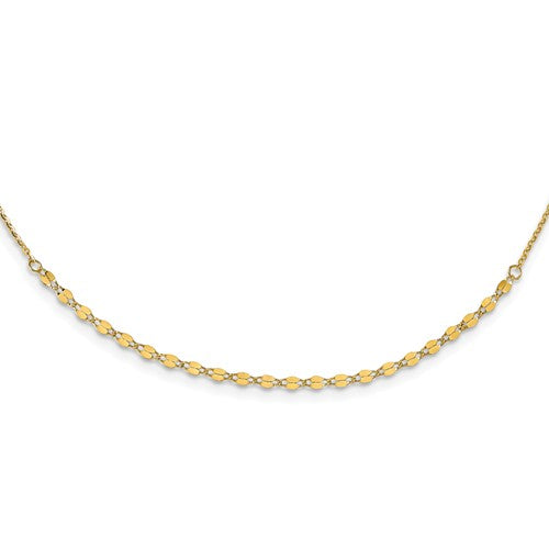 14K Yellow Gold Adjustable Open Link Chain
