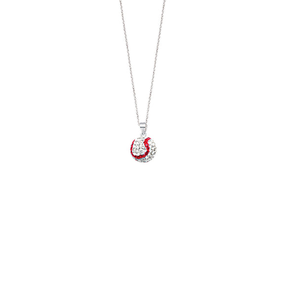 SS 12MM BASEBALL NECKLACE