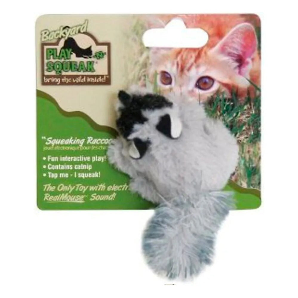TOY GATO MAPACHE PLAY N SQUEAK