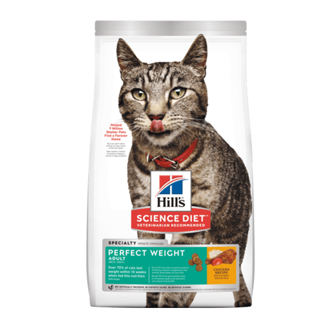 Hills gato perfect weigth- Clínica veterinaria
