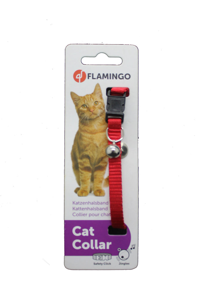 Collar Gato Rojo Nylon Safety Security- Clínica veterinaria