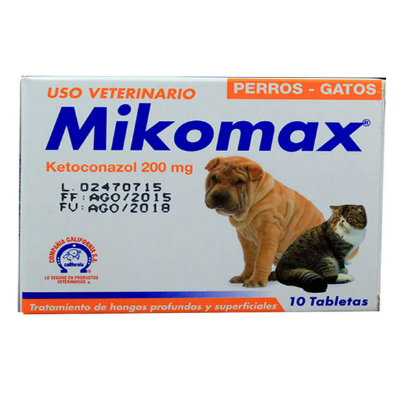 Mikomax Tabletas X 200 mg- Clínica veterinaria