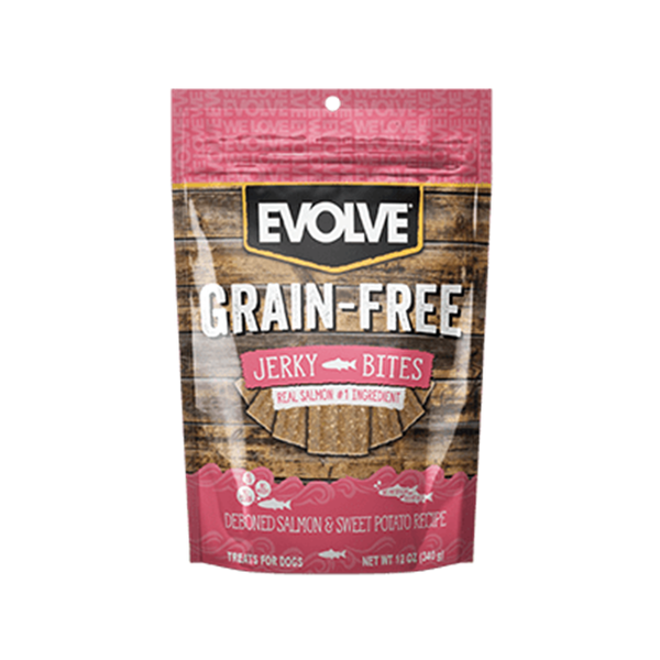 Evolve Dog Snack Jerky Salmón