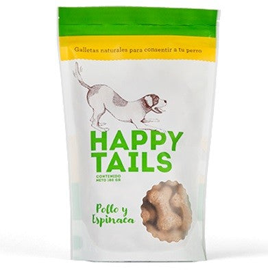 Happy Tails® Galletas Pollo y Espinaca- Clínica veterinaria