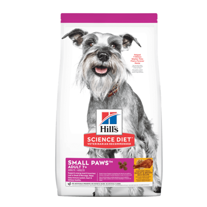 Hills Adulto Small Paws 7+ Clínica veterinaria