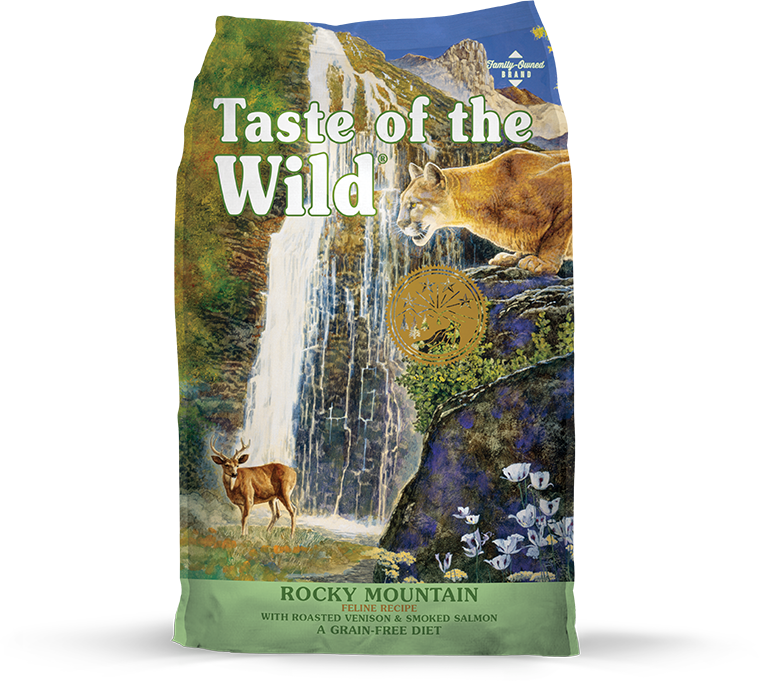 Taste Of The Wild Rocky Mountain Feline Recipe. Con venado asado y salmón ahumado