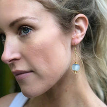 Load image into Gallery viewer, Teardrop earring - Sky Blue