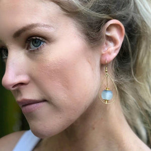 Teardrop earring - Sky Blue